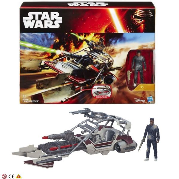 Disney Hasbro Star Wars Desert Landspeeder and Finn(Jakku) Toy Figure